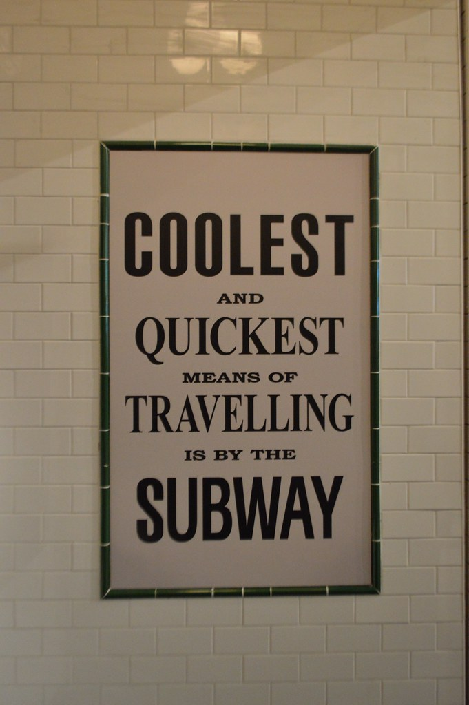 This is a picture of a subway poster at the riverside museum