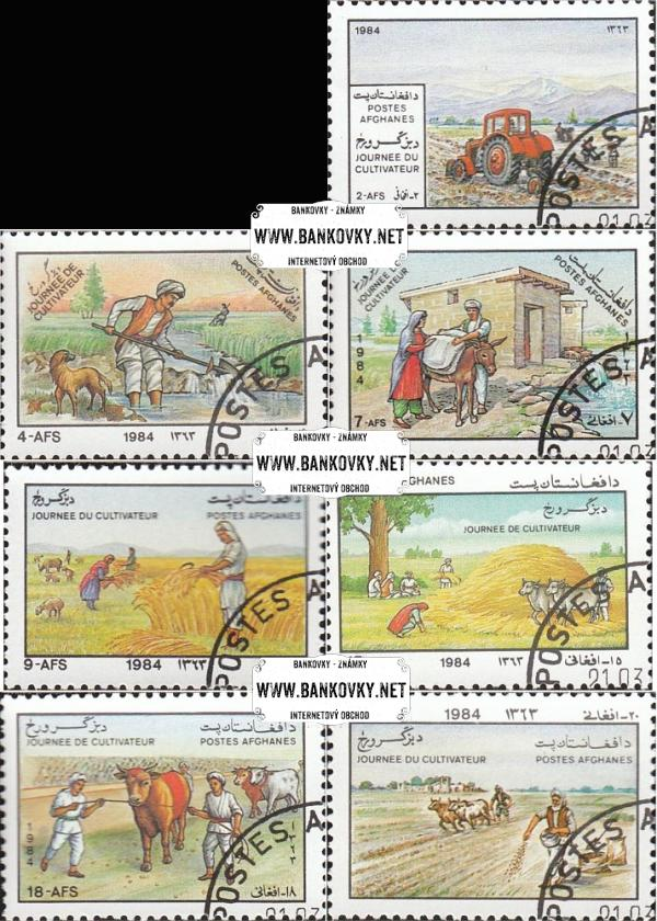 Známky Afganistan 1984 Deň farmárov, razítkovaná séria