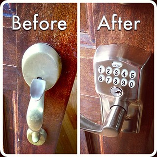 New door lock! #homework | by aaronparecki