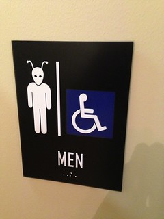 Our restrooms accodate humans and aliens | by nickf