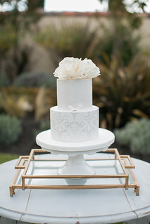 Damask Wedding Cake | by Sweet Lauren Cakes