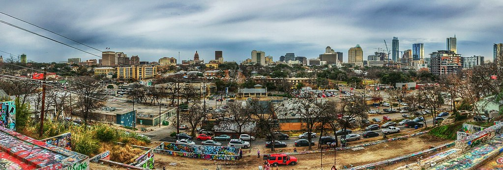 Austin Wall Art austin tx - seen from the baylor art wall | i took these 3 p… | flickr