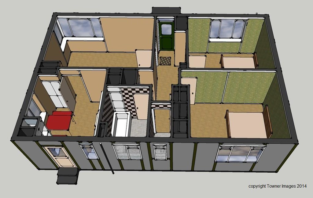 typical prefab floor plan rear elevation Typical post – Wartime House Floor Plans