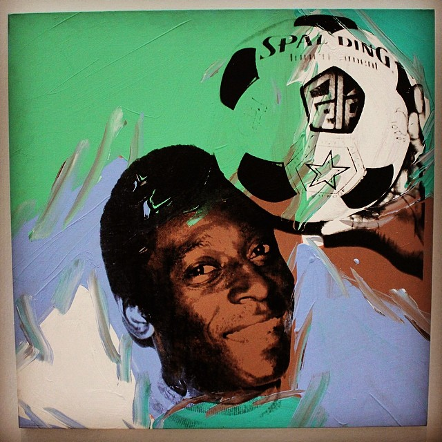Football in Art Andy Warhol, Pelé,