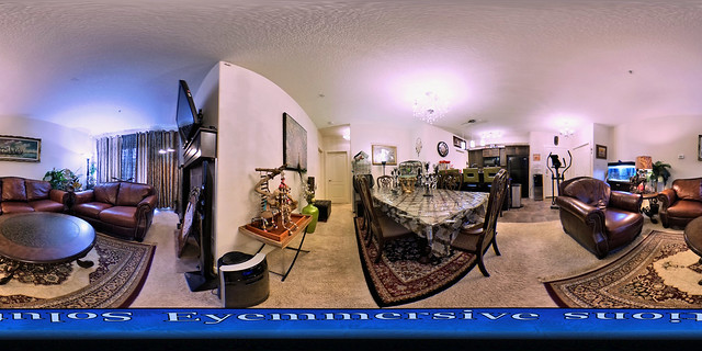 Real estate photography - 360 degrees virtual tour of living room