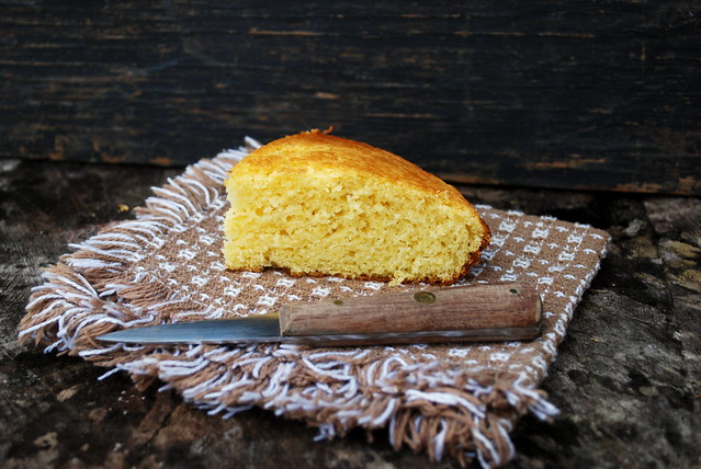 Light Fluffy Cornbread slice BLOG