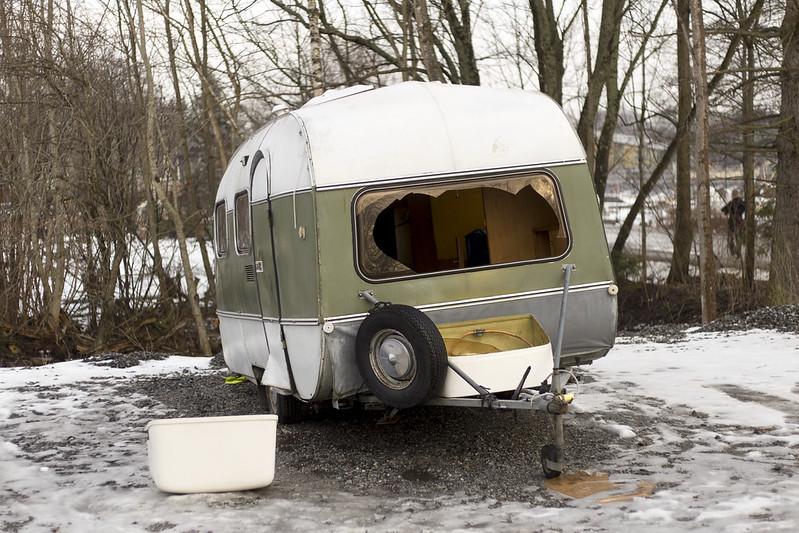 Dumped caravan