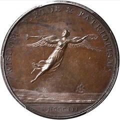 Washington Fame Medal reverse