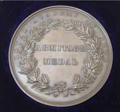 1885 ROYAL ACADEMY OF ARTS ARMITAGE MEDAL reverse