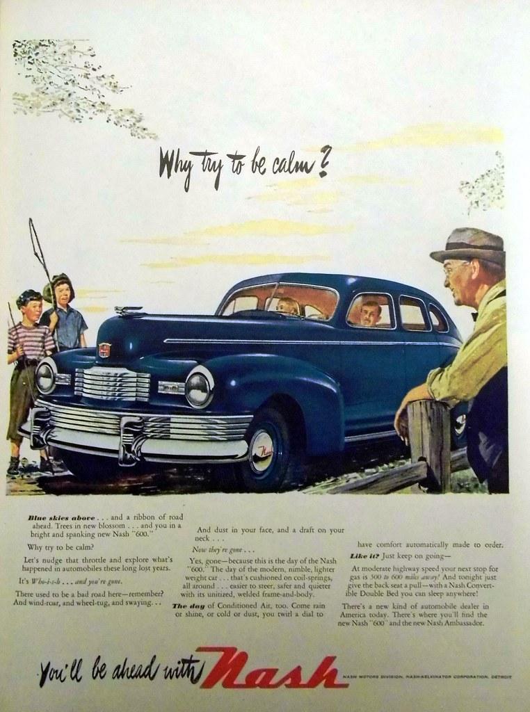 Vintage Automobile Advertising: 1947 Nash, \