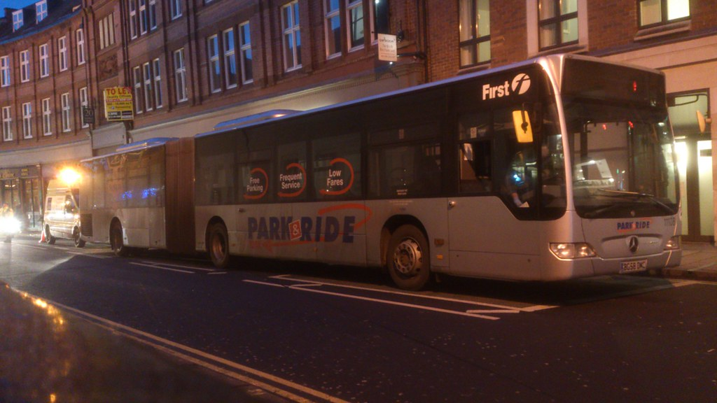 Going Nowhere Slowly Broken Down Bus Bg58omc 11108 First York West Yorkshire Park And