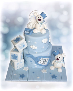 Two Teddies 1st Birthday Cake | by Cute Sweet Thing