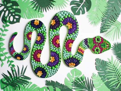 Quilled Snake by Mainely Quilling
