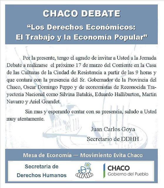 Chaco debate sobre Economía Popular