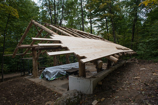 Roof Decking on Grindbygg Timber Frame Workshop | by goingslowly