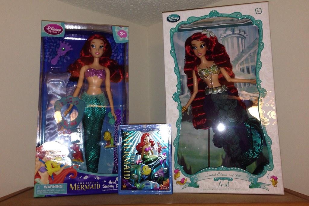 The Little Mermaid Bookshelf Display Shelves