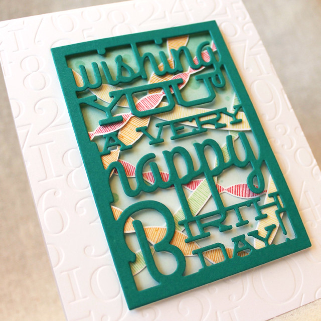 10th Anniversary - Text Block Birthday Close Up