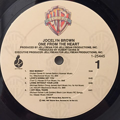 JOCELYN BROWN:ONE FROM THE HEART(LABEL SIDE-A)