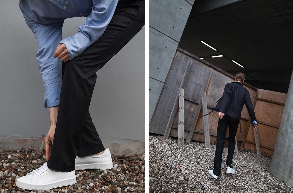 MikkoPuttonen_FashionBlogger_London_13Month_RiverIsland_TDTProducts_EDITIONSMR_JILSANDER_minimal_Sneakers_Zalando26_web_bw