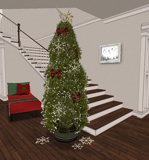 Holiday Home Tour: Entry Hall- Main Kismet Tree | by Hidden Gems in Second Life (Interior Designer)