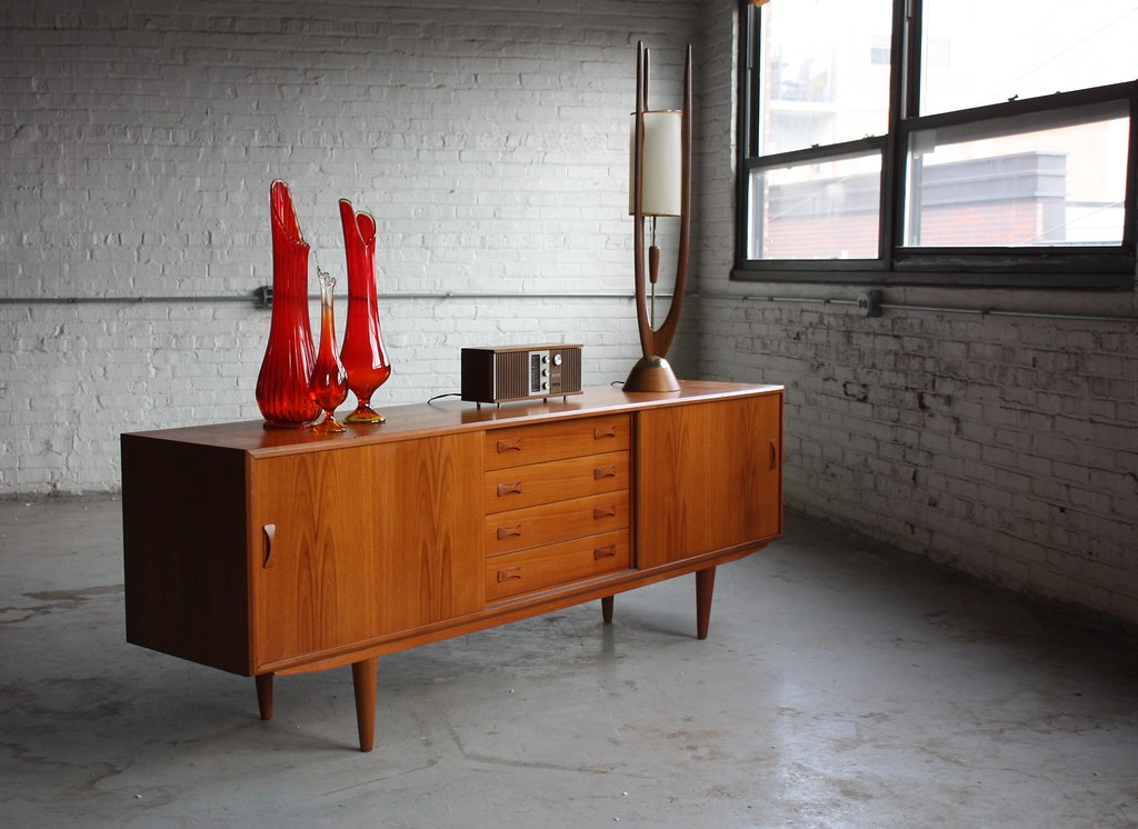 Danish Modern Credenza Sideboard : On deck amazing danish mid century modern clausen su flickr