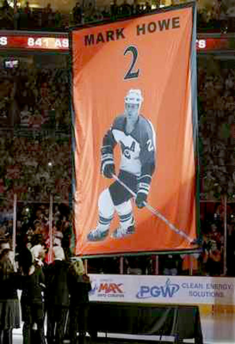 Mark Howe jersey retirement