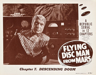 "Flying Disc Man from Mars (Republic, 1950). Lobby Card (11"" X 14"")' Chapter 7 -- ""Descending Doom."" 
