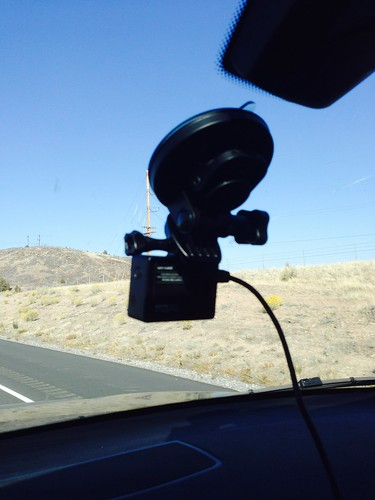 GoPro mounted for time-lapse in the car | by mathowie