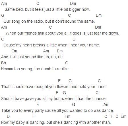 Bruno Mars When I Was Your Man Chords Bruno Mars When Flickr