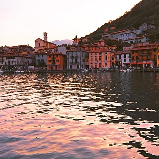 Lago d'Iseo, Brescia, #Italy from the water taxi just around pizza time #polarr | by KenEKaplan