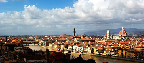 Italian Florence: Florence Cityscape From Piazzale Michelangelo