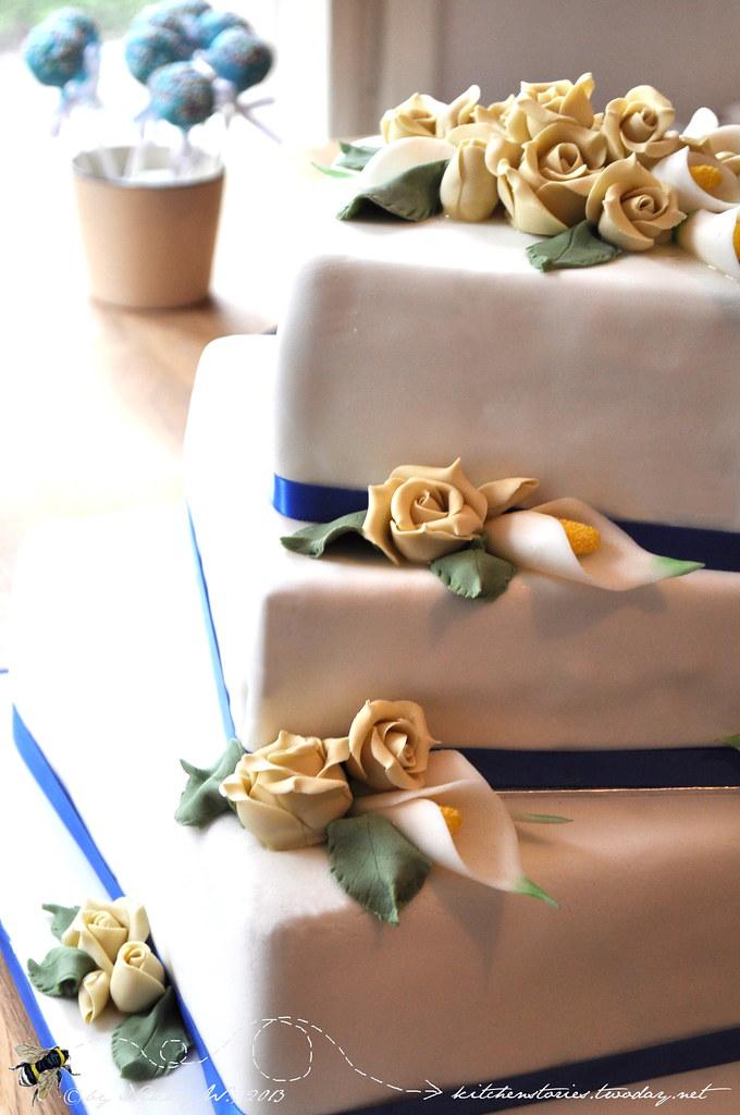 Hochzeitstorte In Blau Und Creme Nikky W Flickr