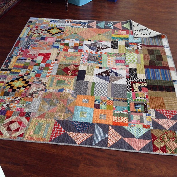 My Everything But The Kitchen Sink Quilt Is Done This One Flickr