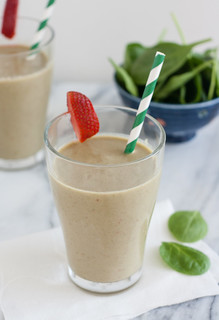 Strawberry, Banana, and Spinach Smoothie | by Tracey's Culinary Adventures