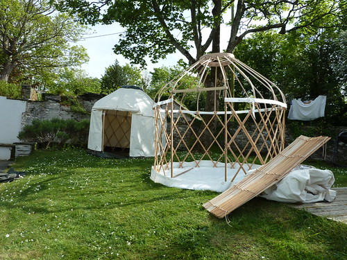 Setting up some mini yurts | by The Heartwood