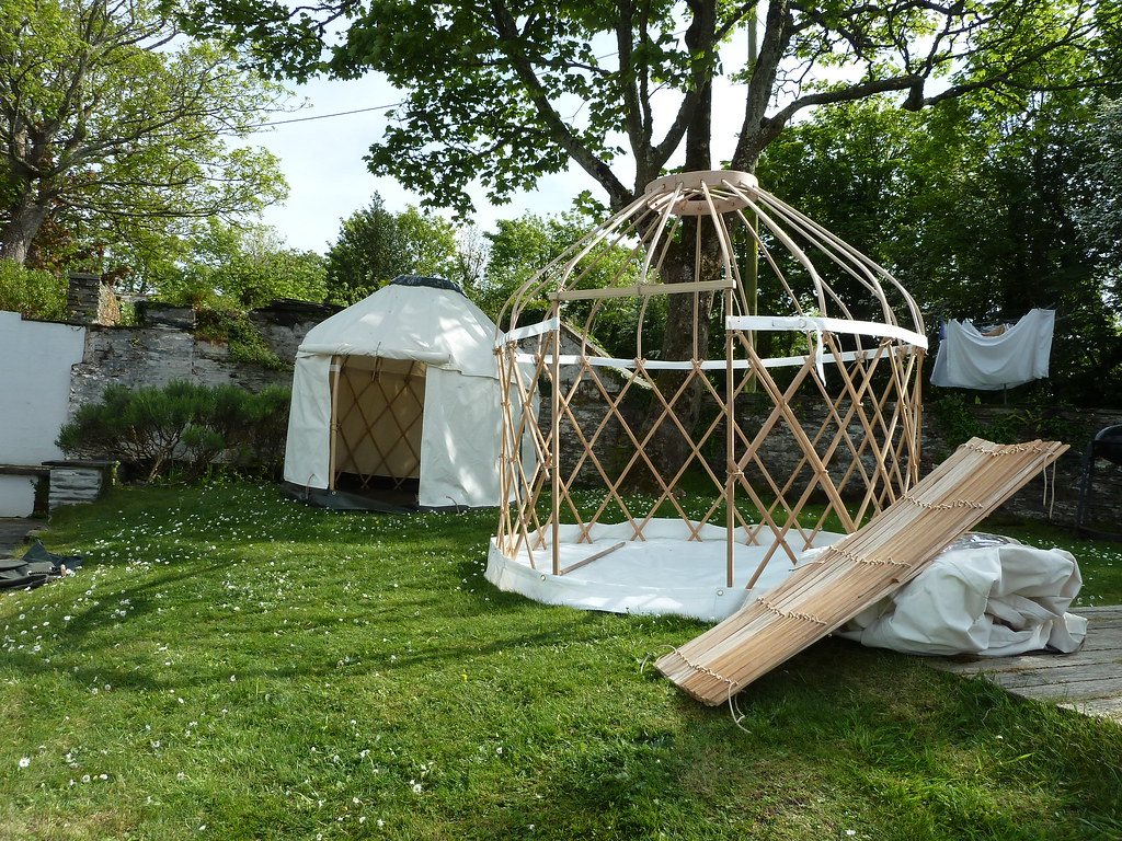 setting up some mini yurts 7ft mini yurts in various stage u2026 flickr