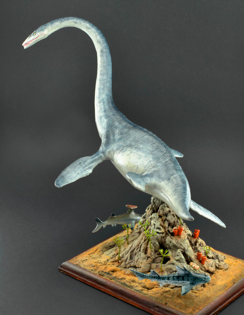 elasmosaurus 1 30 horizon vinyl kit built painte flickr