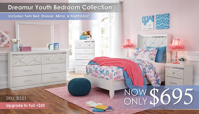 Dreamur Youth Twin Bedroom Update B351-31-36-46-53-52-92-Q318