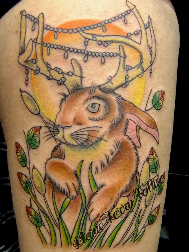 jackalope tattoo jackalope neo traditional tattoos by lond flickr
