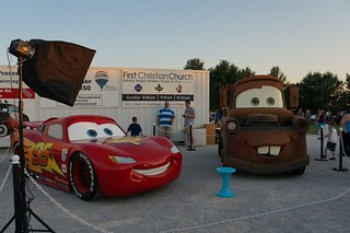 Lightning McQueen & Mater  at the 66 Drive-in, Route 66 - Carthage, Missouri | by RoadTripMemories