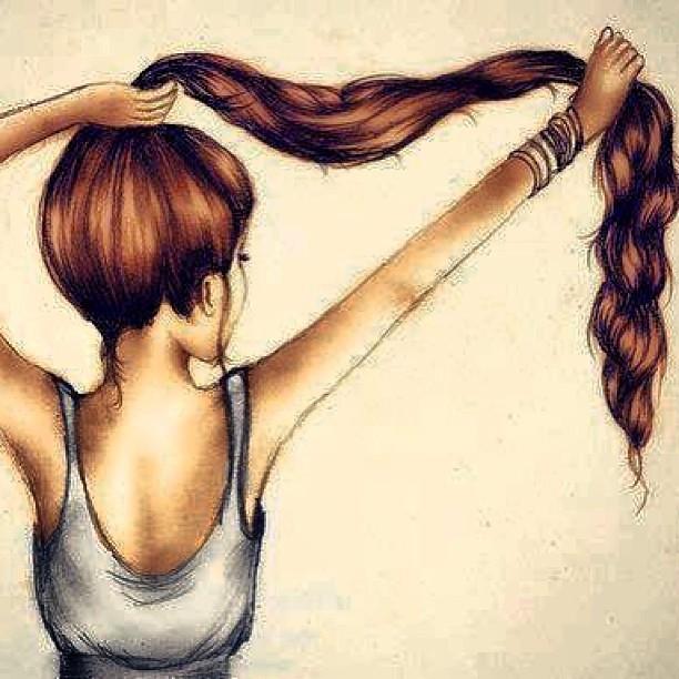 i love long hair long hair love sketch pencil crayon flickr rh flickr com cartoon girl with long brown hair how to draw a cartoon girl with long hair