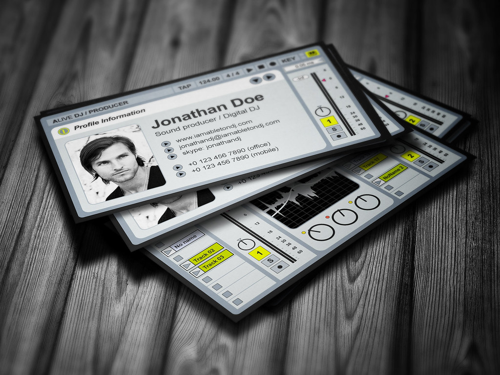 Ableton DJ Business Card | Unique and very detailed business… | Flickr