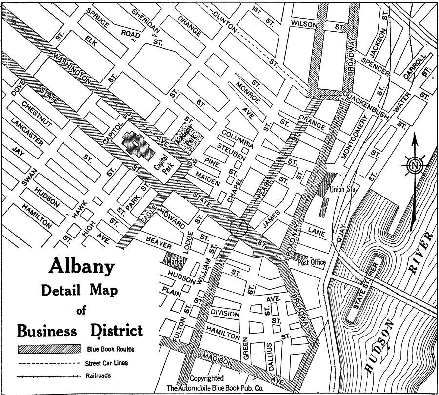 map downtown albany ny 1940s by albany group archive