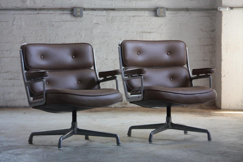 ... Tempting Charles Eames Vintage Time Life Lounge Chairs For Herman  Miller (Zeeland, Mi,