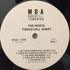 THE ROOTS:THINGS FALL APART(LABEL SIDE-A)