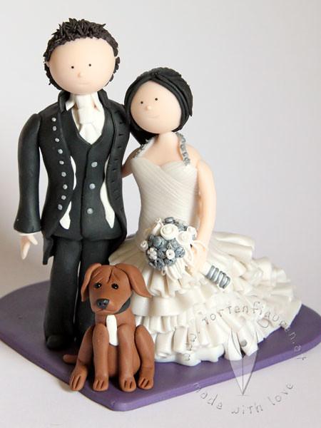 Brautpaar Mit Hund Tortenfiguren Flickr