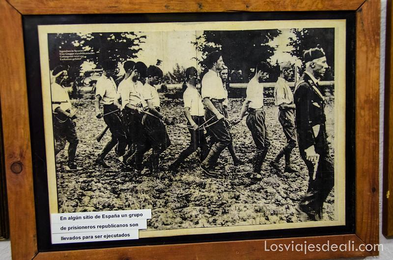 fotografía antigua de la guerra civil española