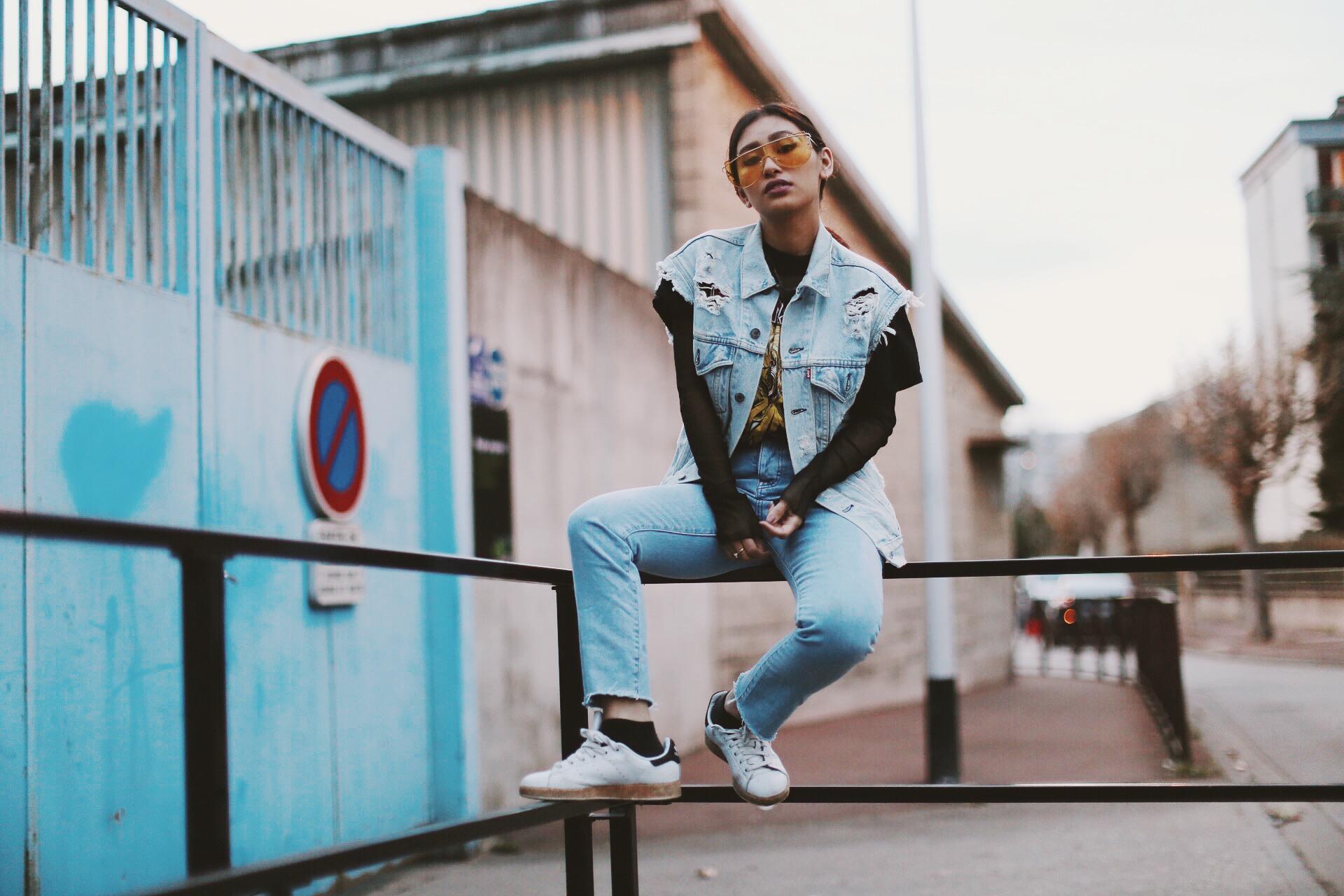 veste en jeans levis