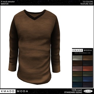 KMADD Moda ~ V-neck sweater (winter) | by www.kmaddmoda.com