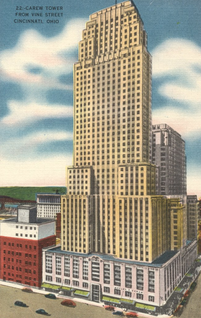 Netherland Hotel Carew Tower From Vine Street - Cincinnati, Ohio